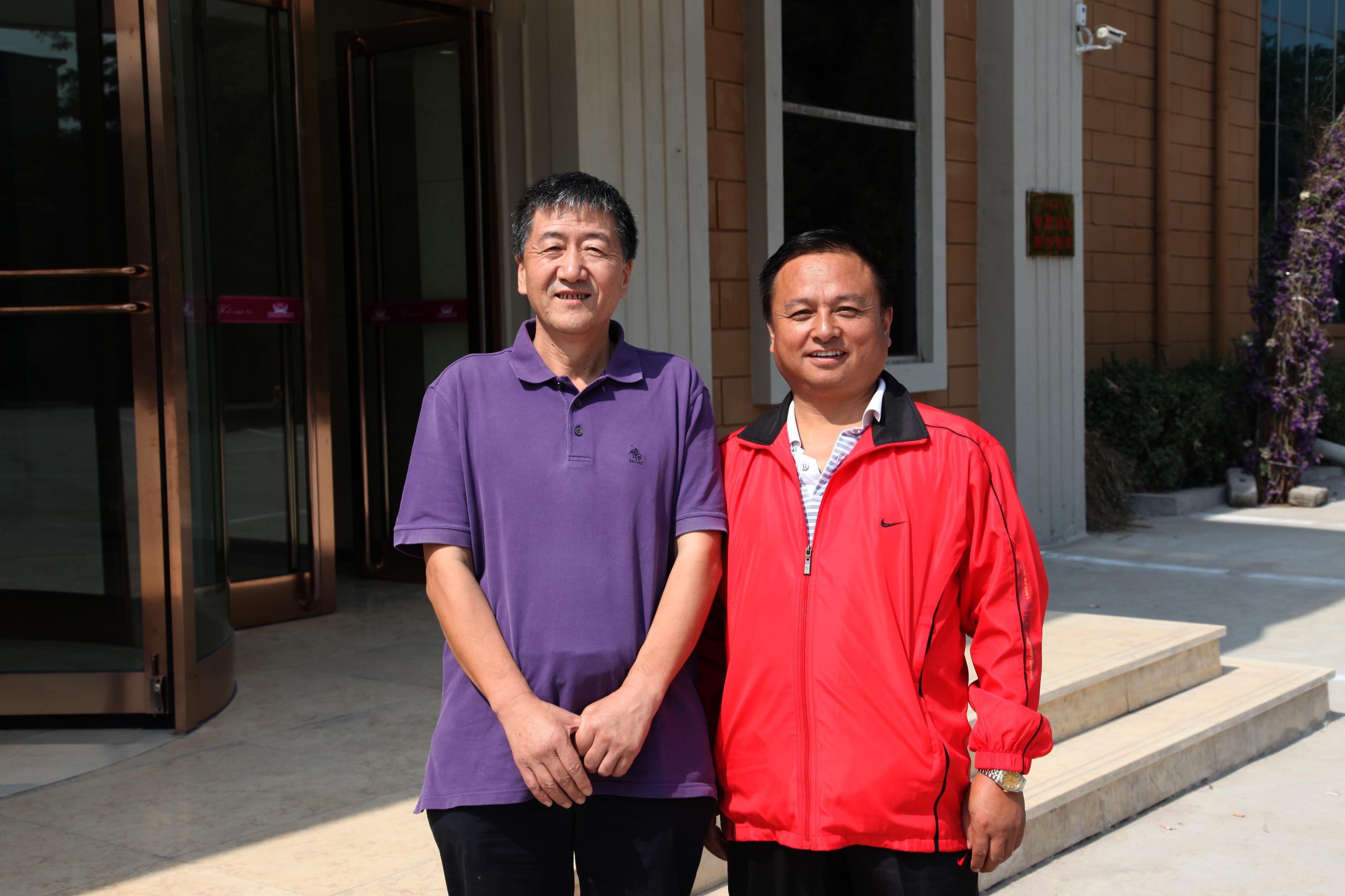 孟宏志会长与太原市工商联主席陈远新合影
